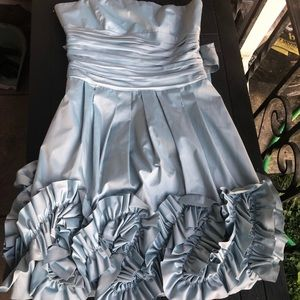 BCBGMAXAZRIA ice blue homecoming/prom dress 2